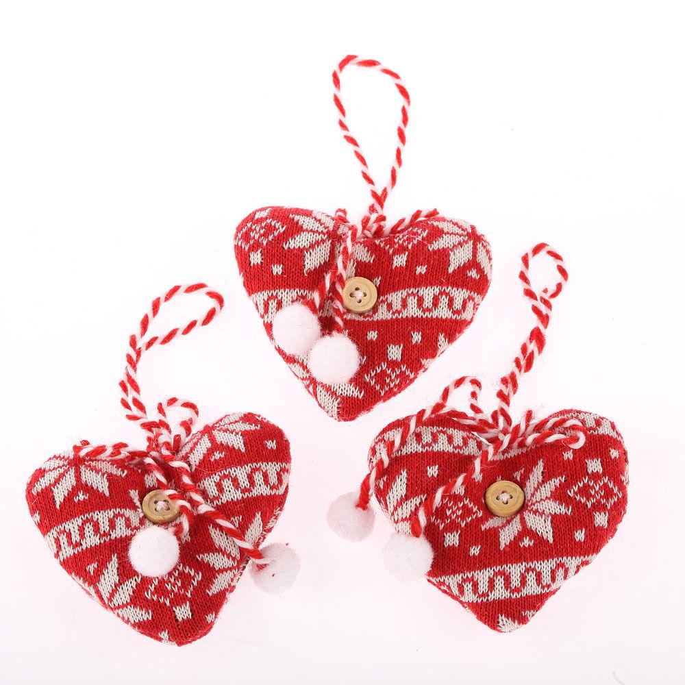Hanging HEART Christmas Xmas Tree Decorations, Ornament