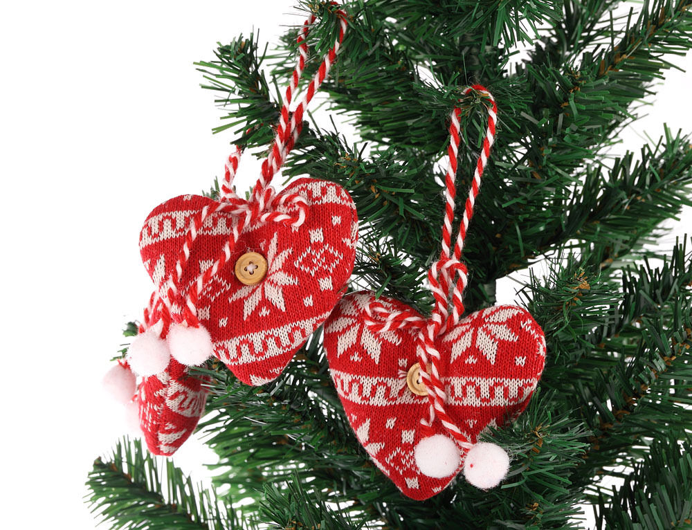 Hanging heart christmas xmas tree decorations ornament for Number of ornaments for christmas tree