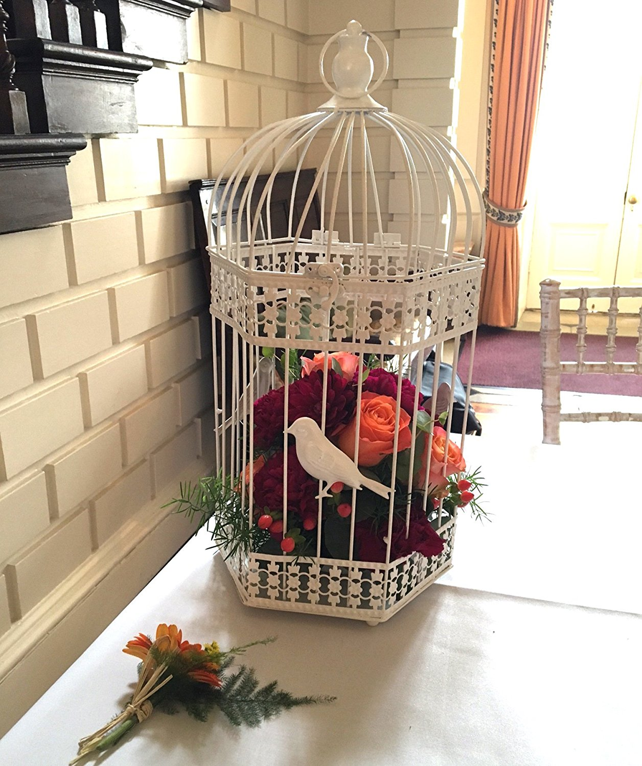 large vintage bird cage wedding decorations table centrepieces ivory ebay. Black Bedroom Furniture Sets. Home Design Ideas