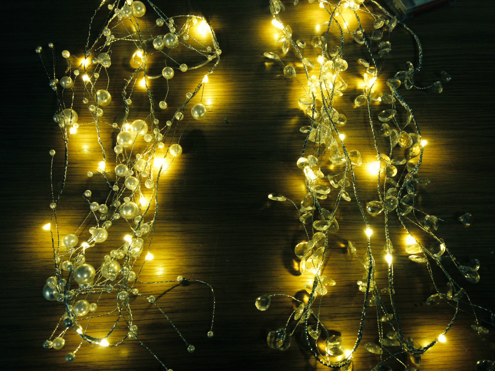 Christmas Garland String Lights : 2m WARM Wired LED Garland Christmas party string outdoor garden spray lights eBay