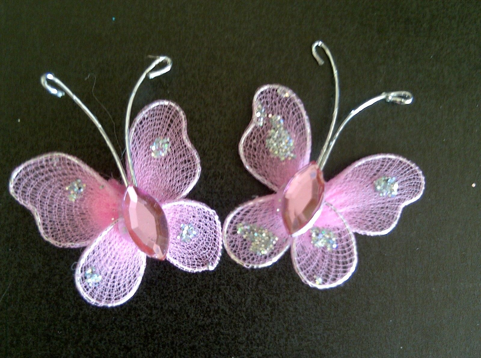 15 beautiful pink diamante rhinestone butterflies gems for Stick on gems for crafts
