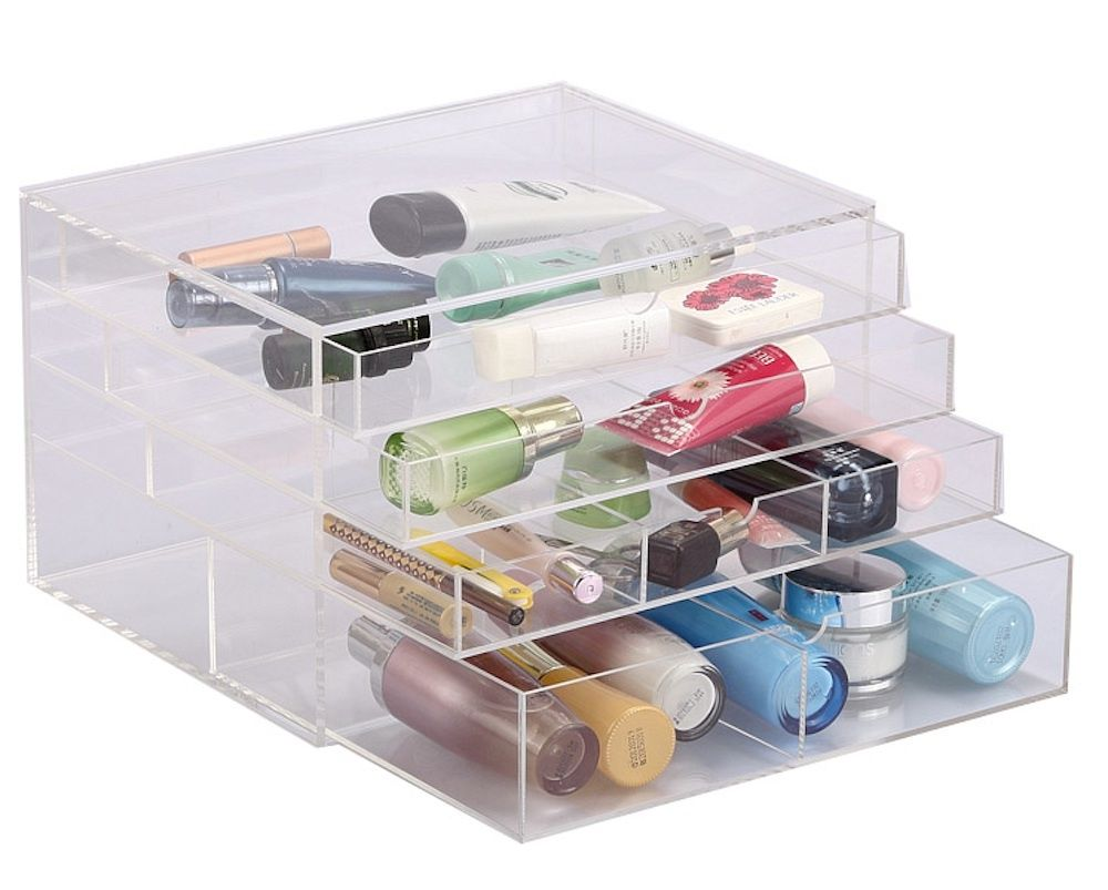 Large 7 Section Clear Acrylic Cosmetic Display Makeup Organiser Box Case Storage  sc 1 st  eBay & Large 7 Section Clear Acrylic Cosmetic Display Makeup Organiser ... Aboutintivar.Com