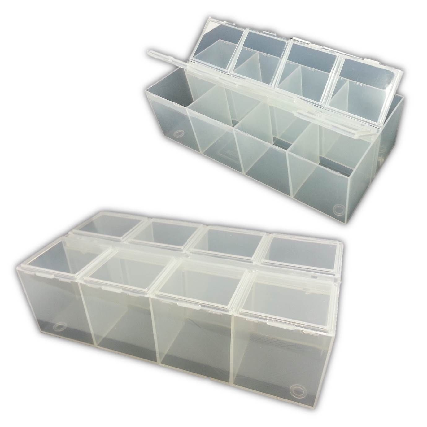 8 compartment plastic bead craft jewellery storage