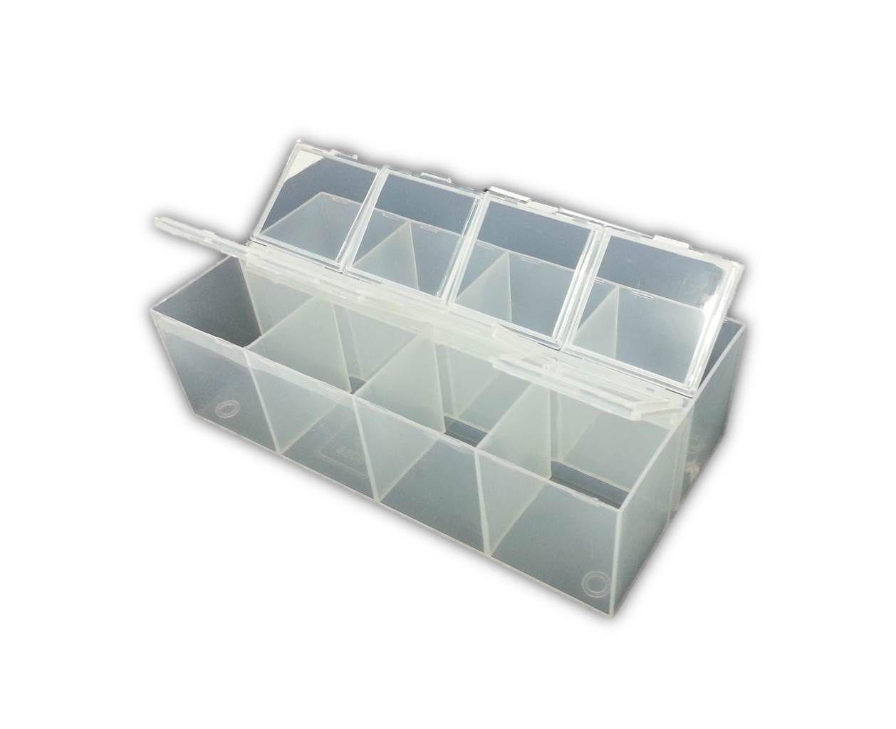 8 compartment plastic bead craft jewellery storage