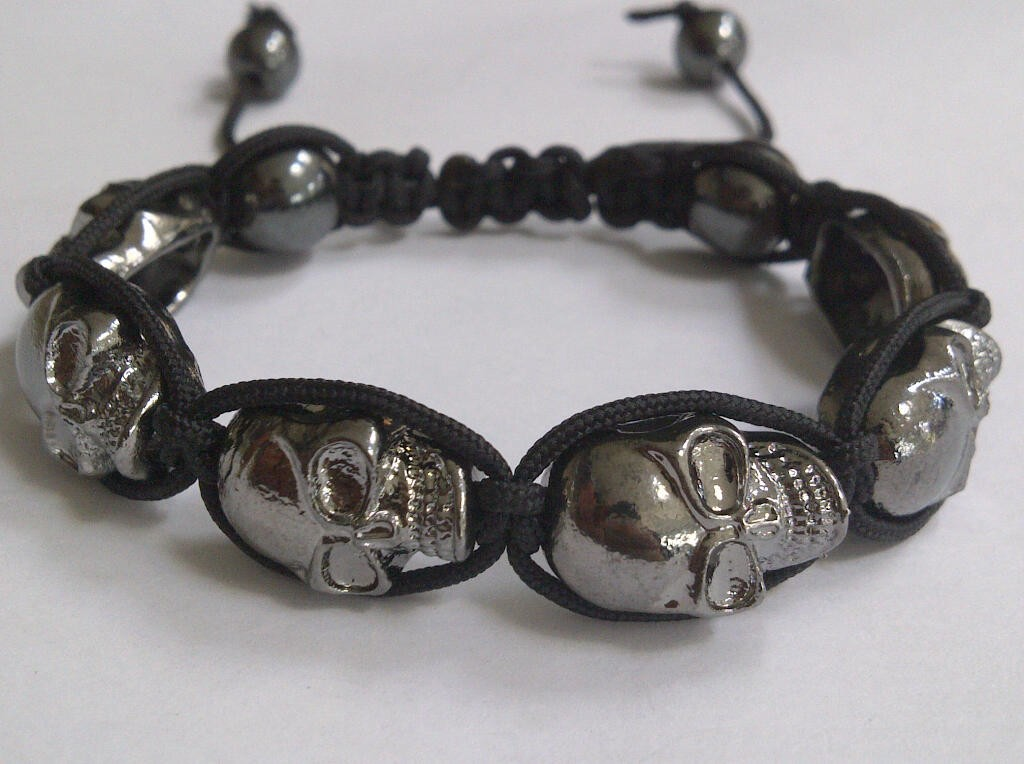 new 2012 skull shamballa friendship bracelet kit