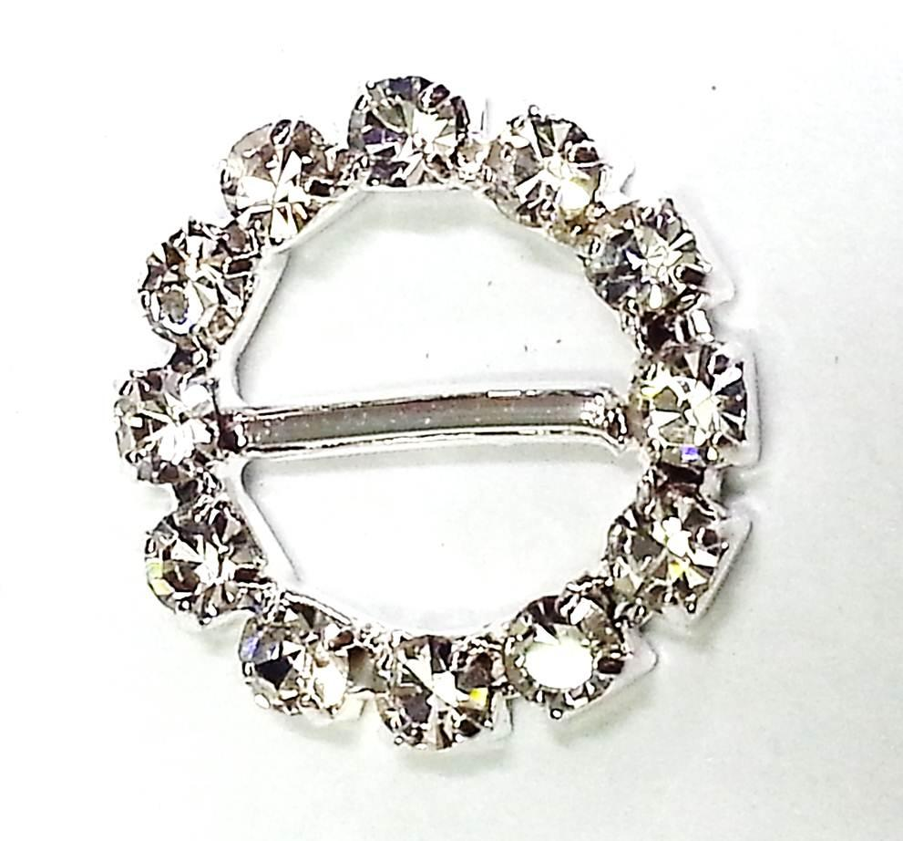 crystal rhinestone round ribbon slider buckle for card With how to make wedding invitations with ribbon and buckles