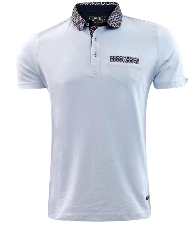 Mens New Genetic Apparel Brand Printed Polo Collar Fashion