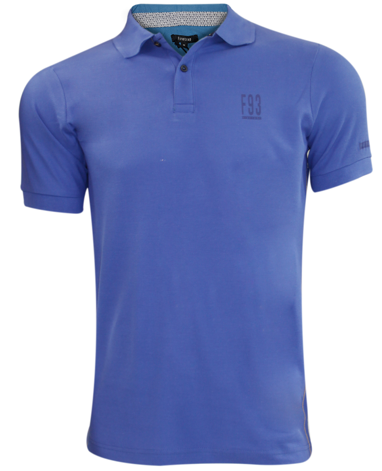 New mens firetrap branded original collar pique polo for Branded polo t shirts