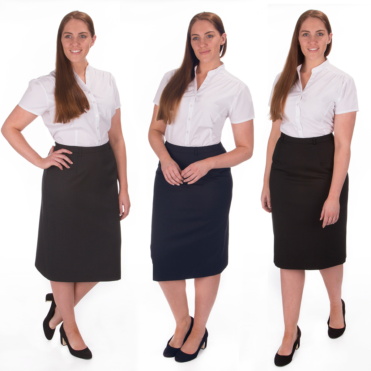 Women's Plus Size Bodycon Zip Pencil Skirt Formal Office Workwear ...