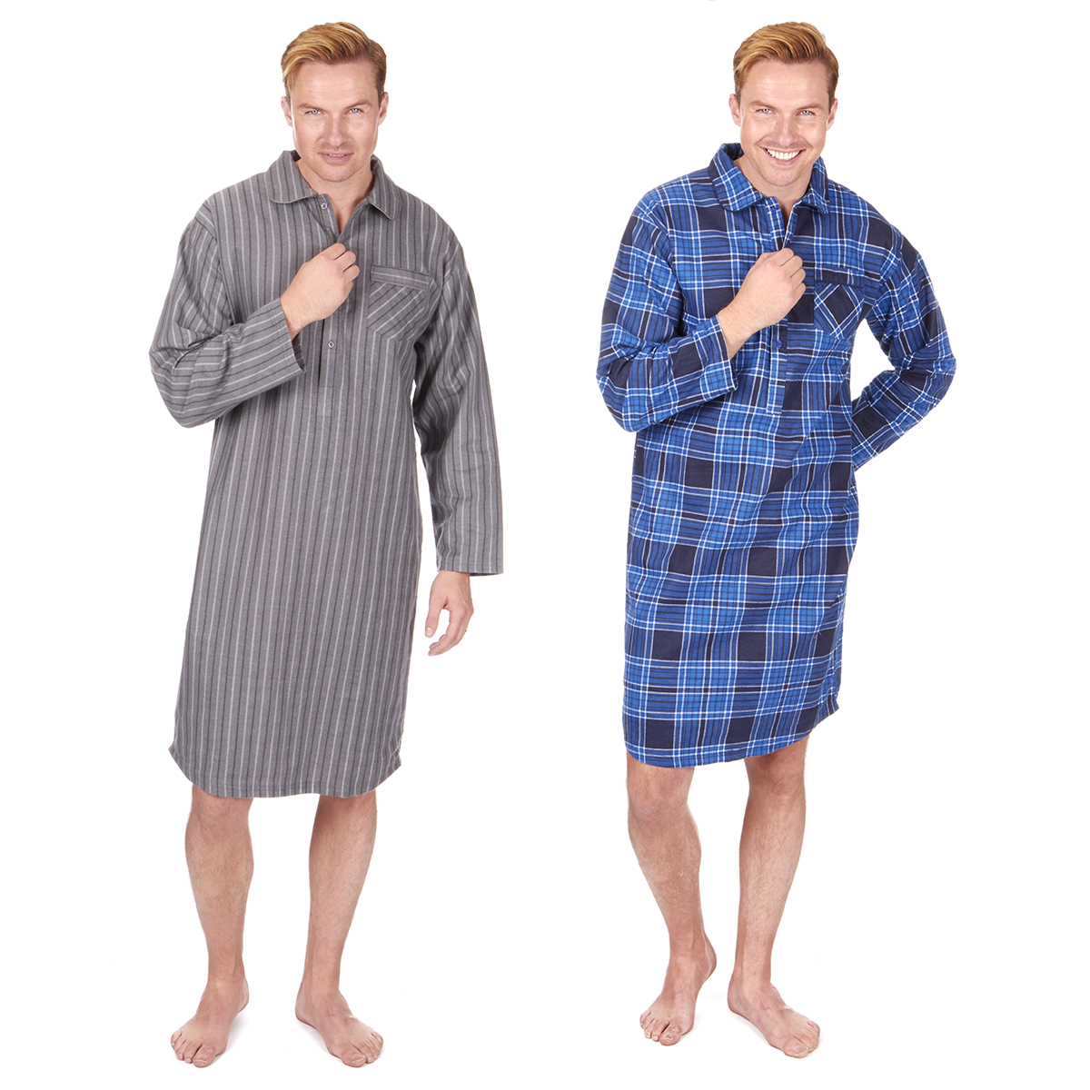 Mens Cotton Flannel Nightshirts