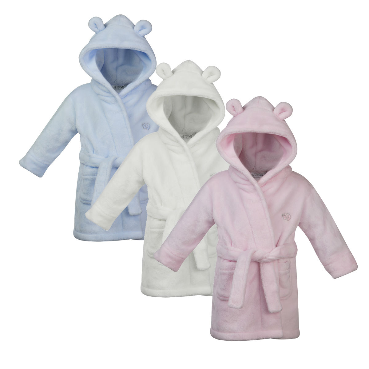 Novelty Baby Gifts Uk : Baby girls boys dressing gown fleece snuggle robe hooded