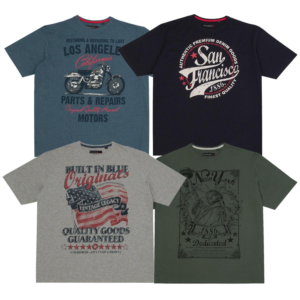 Mens plus size t shirt trendy top big tall shirt for Plus size tall t shirts