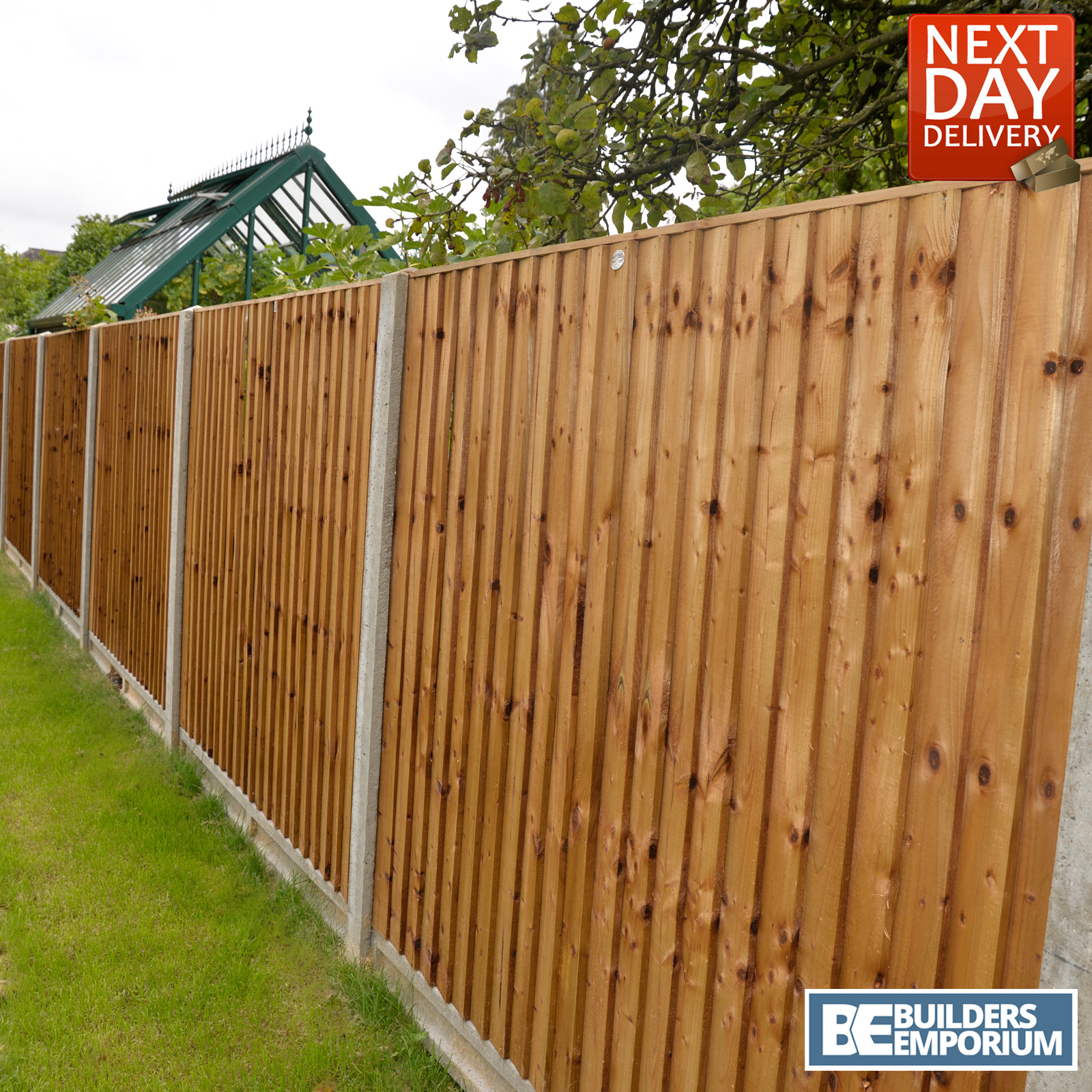 close board fence panels heavy duty pressure treated 6ft. Black Bedroom Furniture Sets. Home Design Ideas