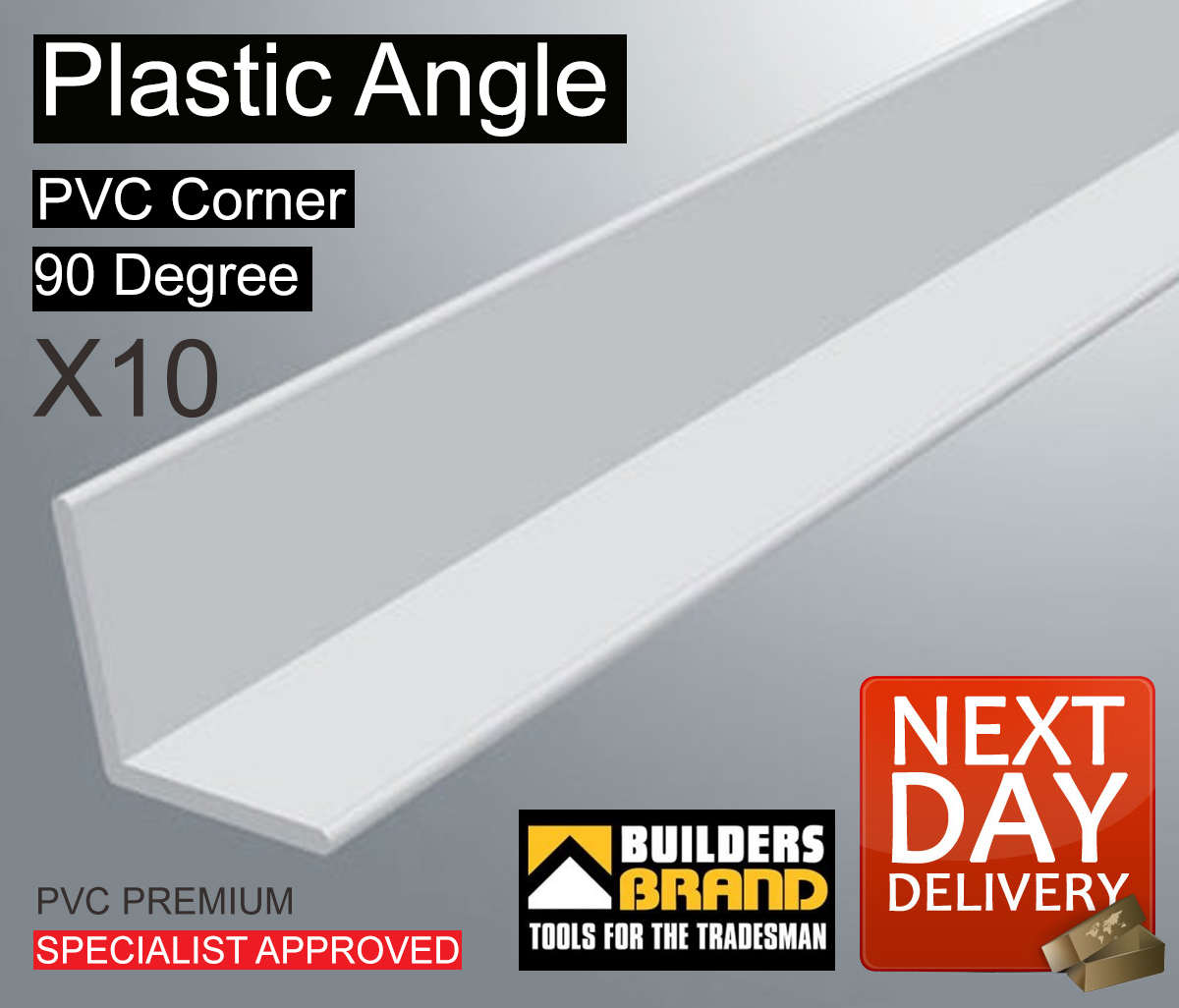 Modern White House With Integrated Angles And Corners: 10x WHITE PLASTIC PVC CORNER 90 DEGREE ANGLE TRIM ALL SIZE