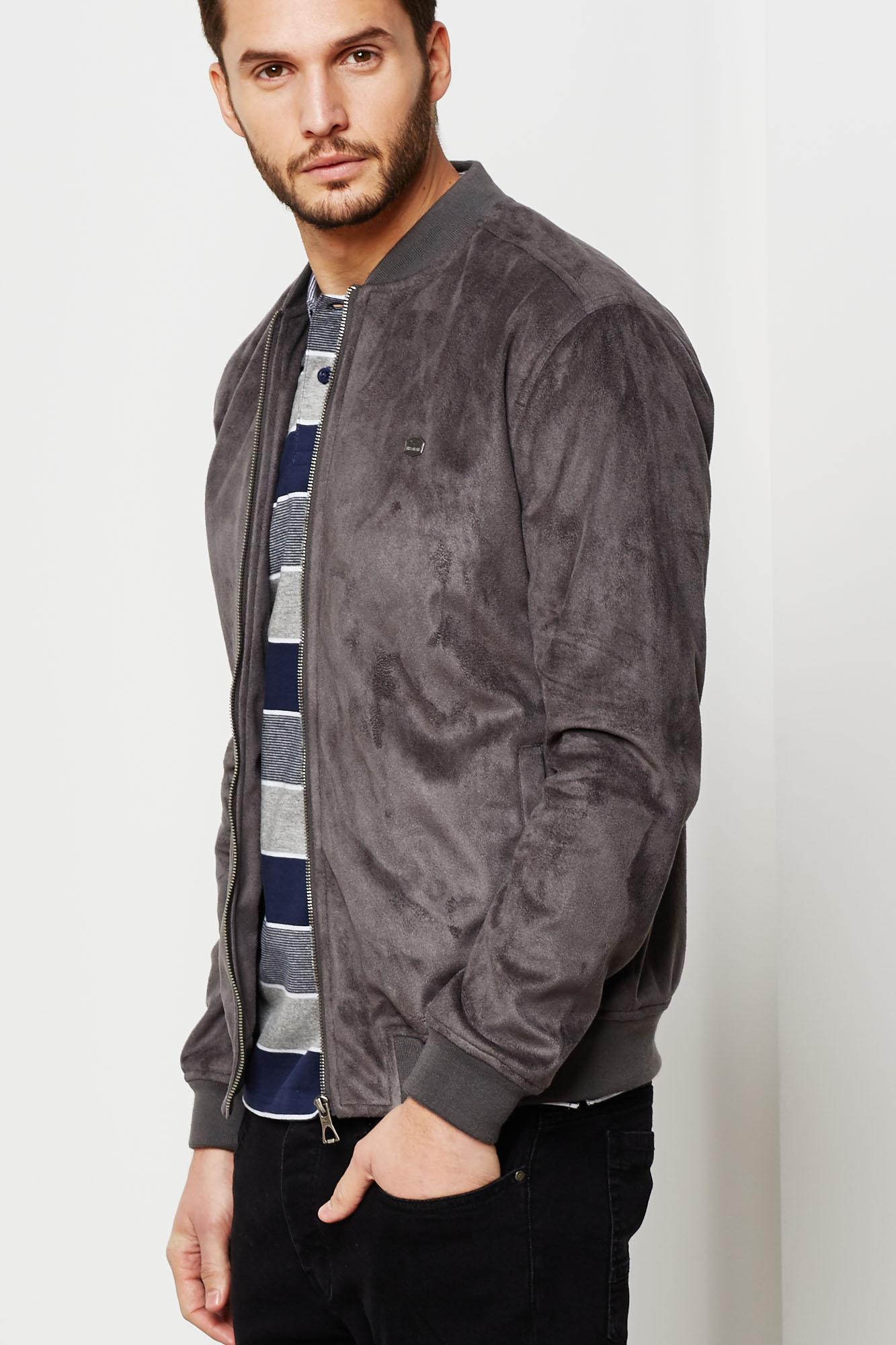 Image result for grey suede bomber jacket