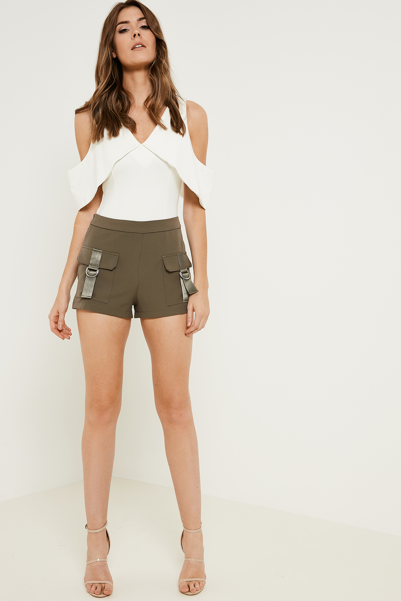 Lavish Alice High Waisted Cargo Shorts
