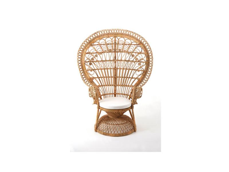 70 39 s retro vintage natural rattan woodstock fan back for Vintage 70s chair