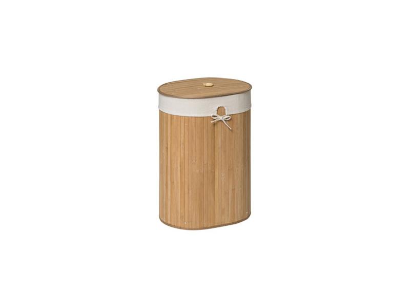 Oval Kankyo Natural Bamboo Wooden Laundry Washing Hamper Cotton Liner Lid Ebay