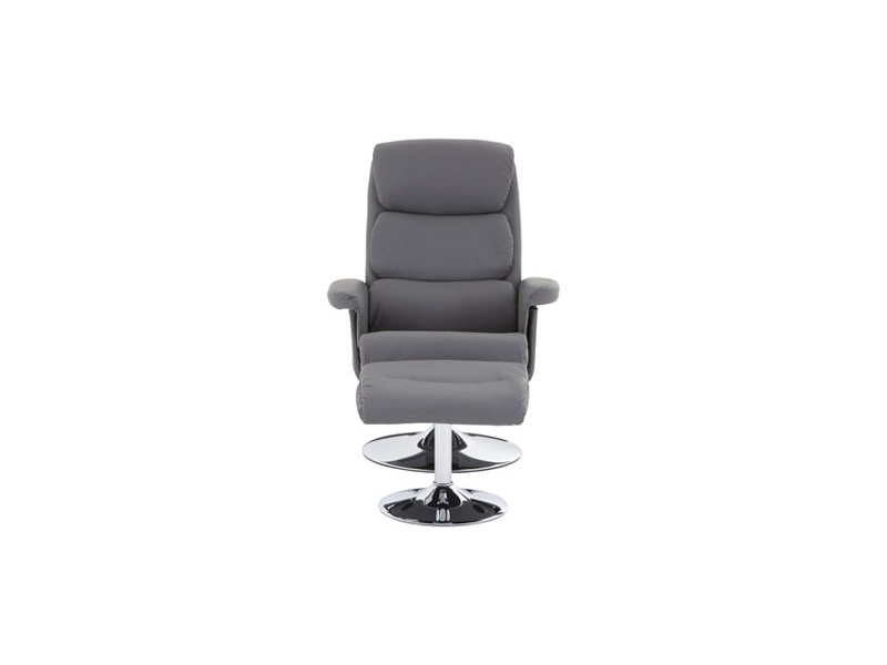 Ribbed Swivel Recliner Chair Amp Footstool Upholstered In