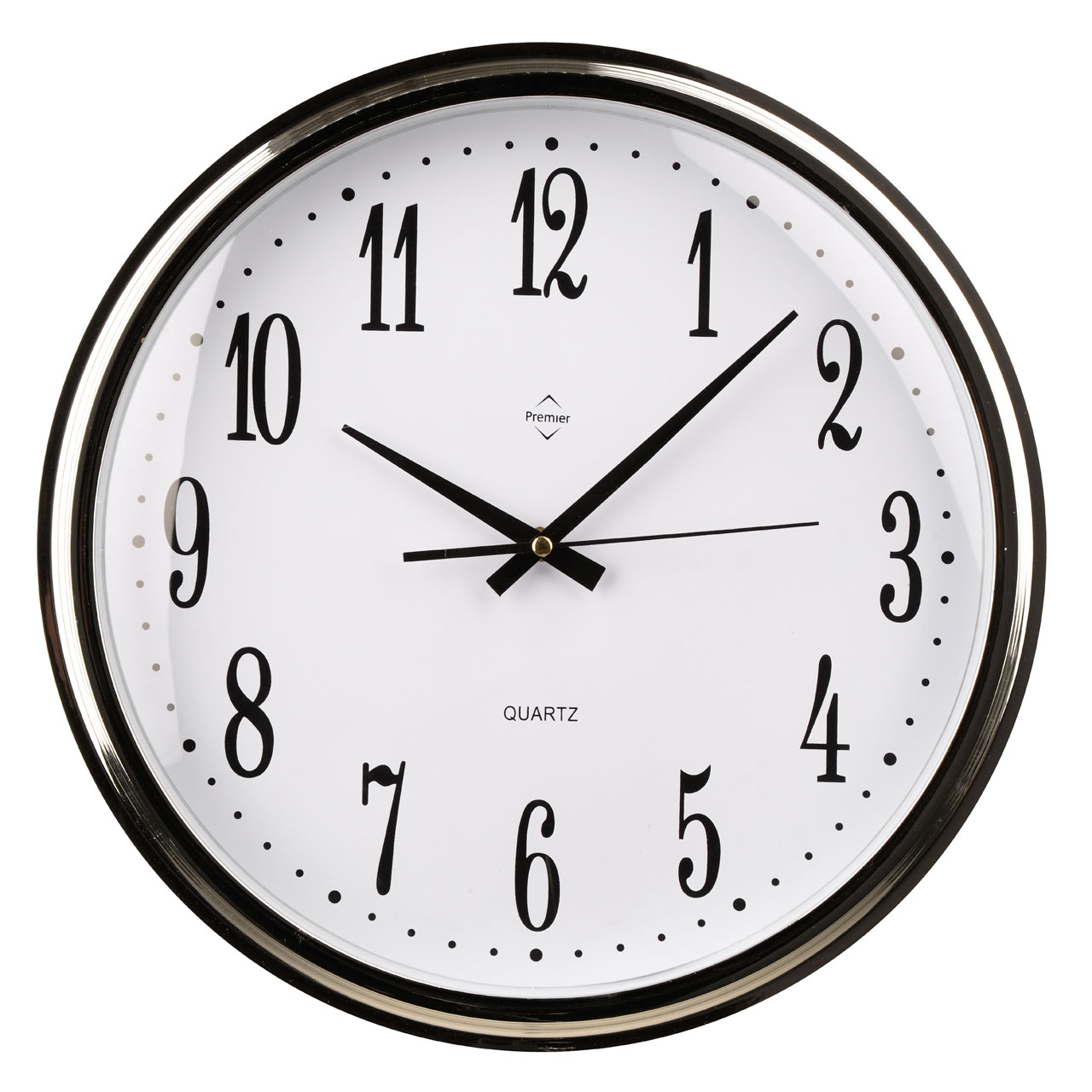 Plastic silver black kitchen wall mountable clock with - Black and white kitchen clock ...