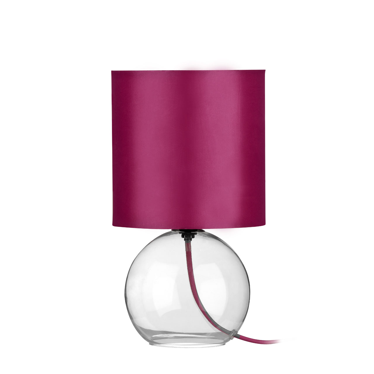 glass base table lamp with hot pink shade ebay. Black Bedroom Furniture Sets. Home Design Ideas