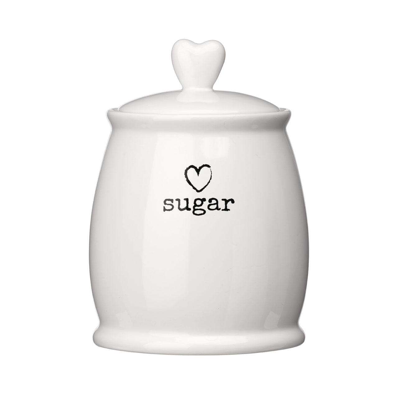 White ceramic charm sugar tea coffee canister airtight lid modern love heart ebay - Modern tea and coffee canisters ...