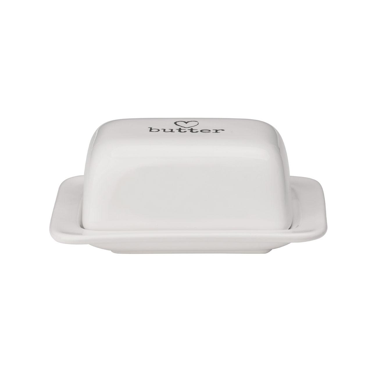 white ceramic charm butter dish airtight lid decorative modern  - white ceramic charm butter dish airtight lid decorative modern love heart