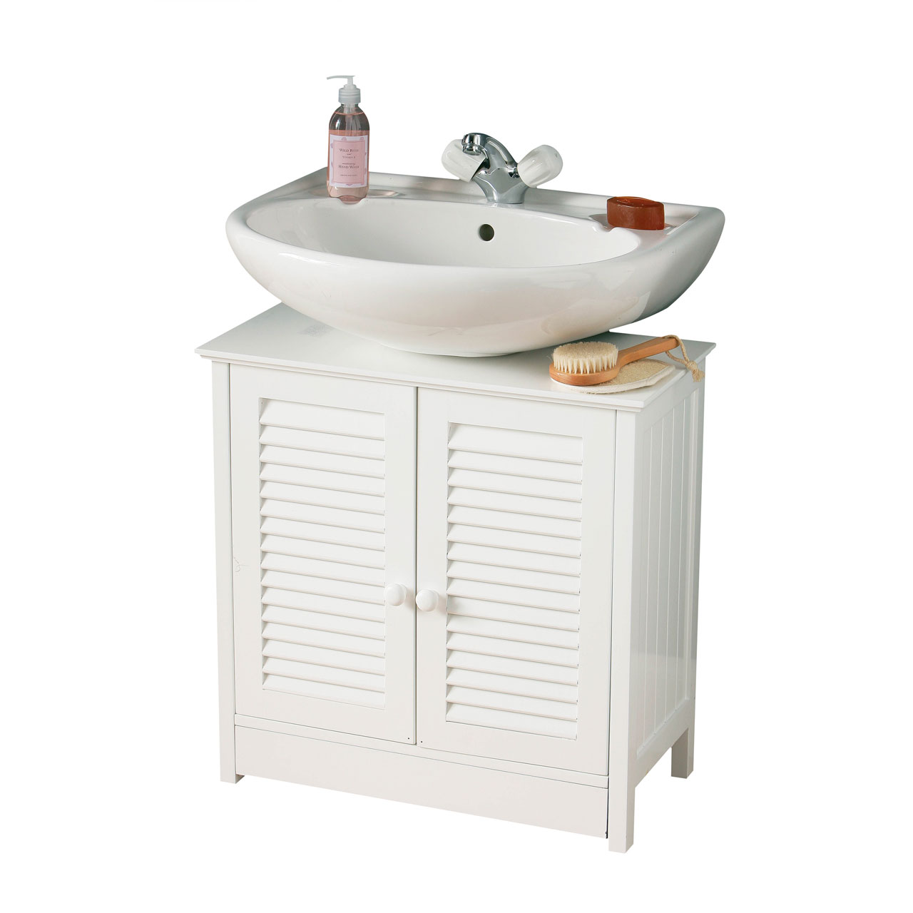 Under Sink Bathroom Cabinet Unit Storage Cupboard White