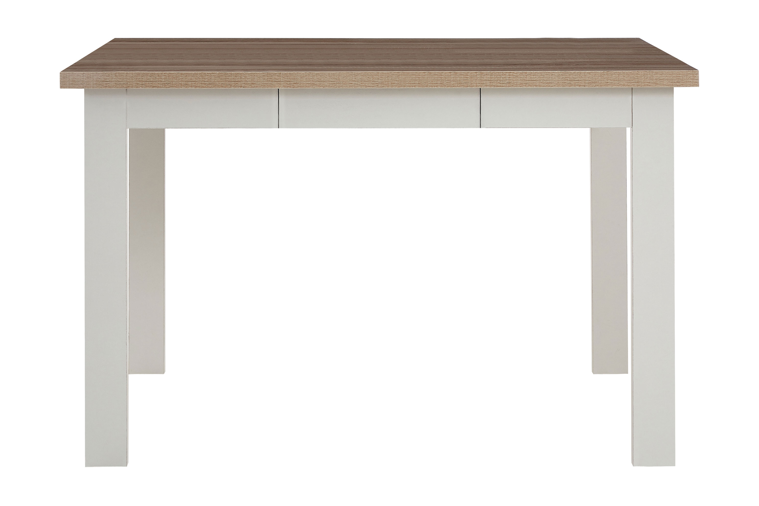 St ives large dining table traditional oak veneer white finish space 6 people ebay - Oak veneer dining table ...