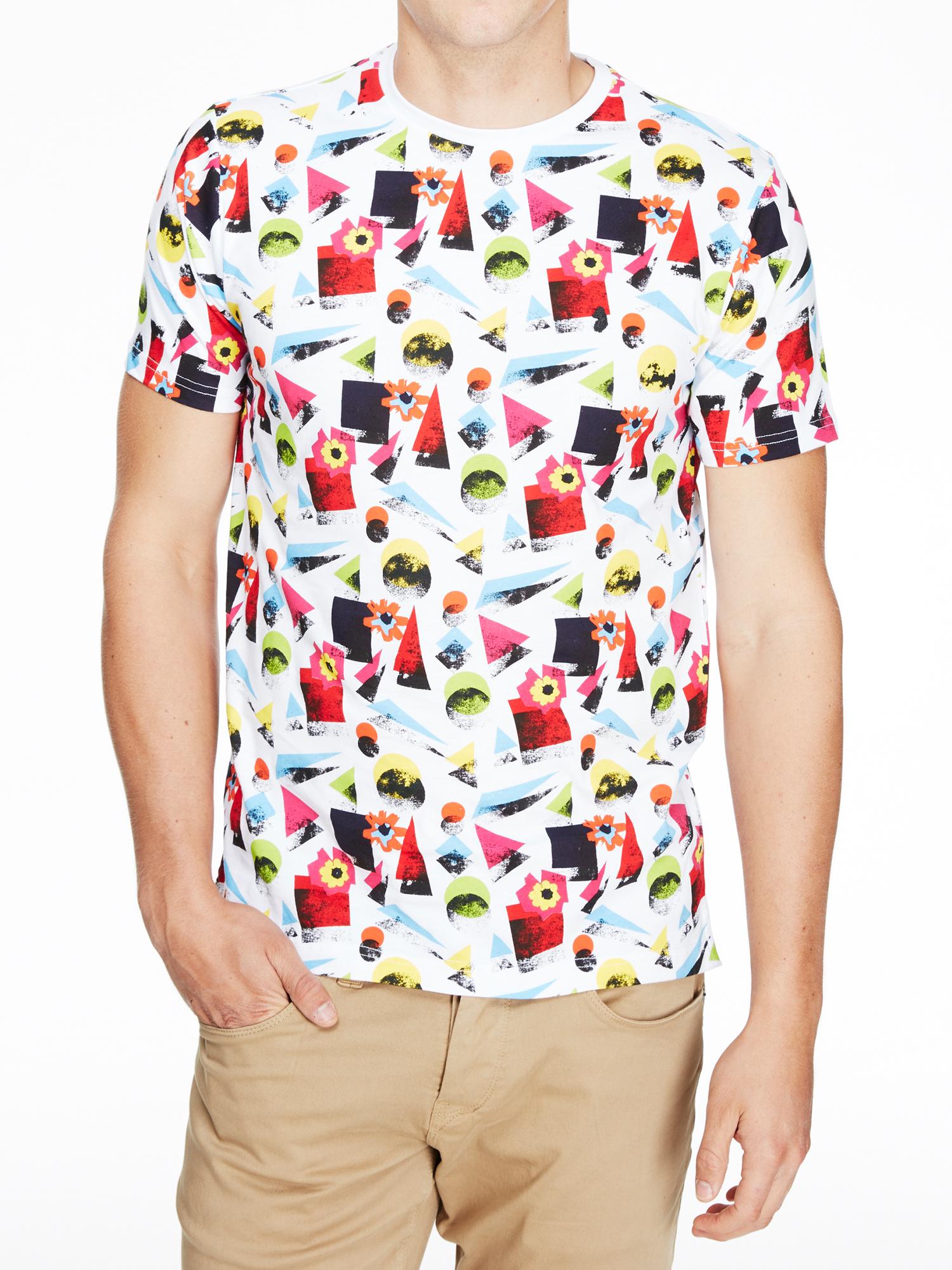 Shirt design uber - Luke 1977 Mens Brightville Graphic Shape Crew Neck Designer T Shirt