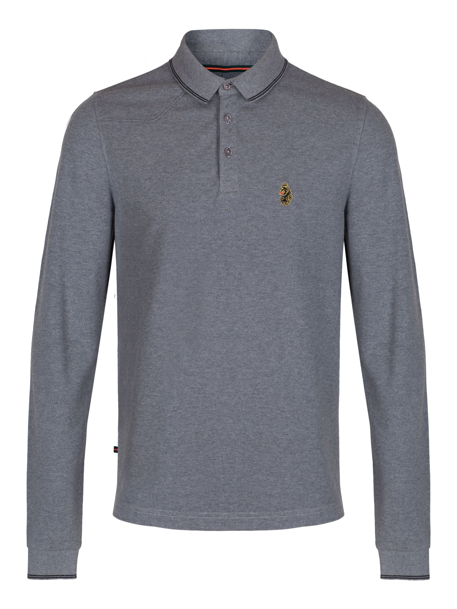 luke 1977 mens designer jude long sleeve lion polo shirt