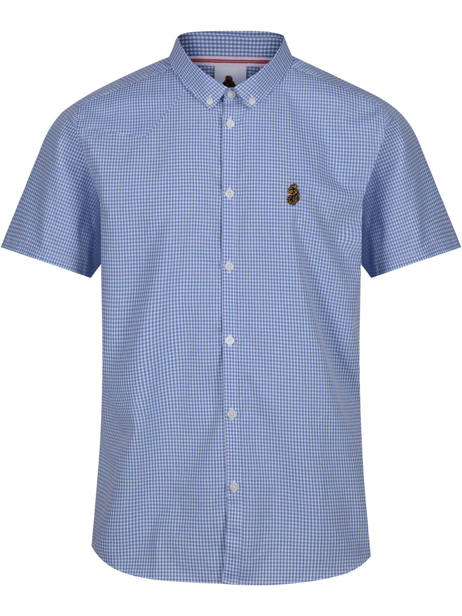 Luke 1977 mens clyde short sleeve designer button down for Mens short sleeve button down shirts