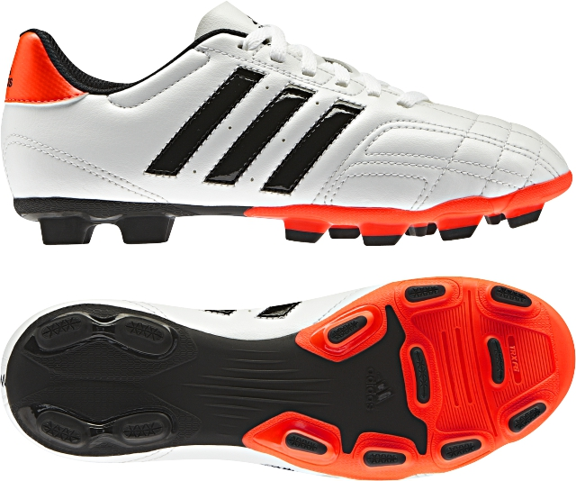 New Adidas Goletto IV TRX FG White Boys Junior Football Boots Moulded Studs