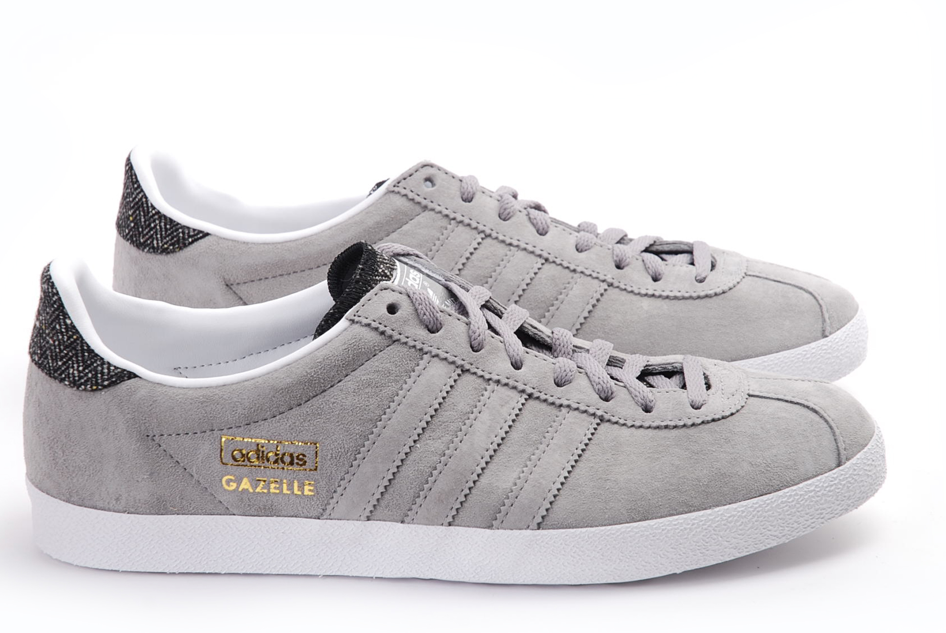 leather adidas gazelle trainers for men