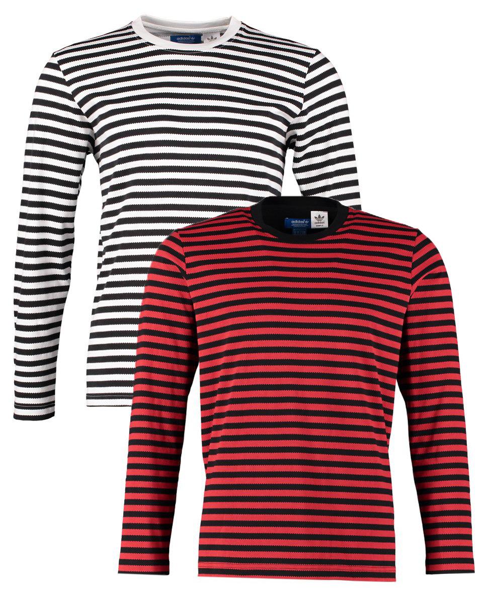 New mens adidas nigo zig zag smart casual striped t shirt for Mens striped long sleeve t shirt