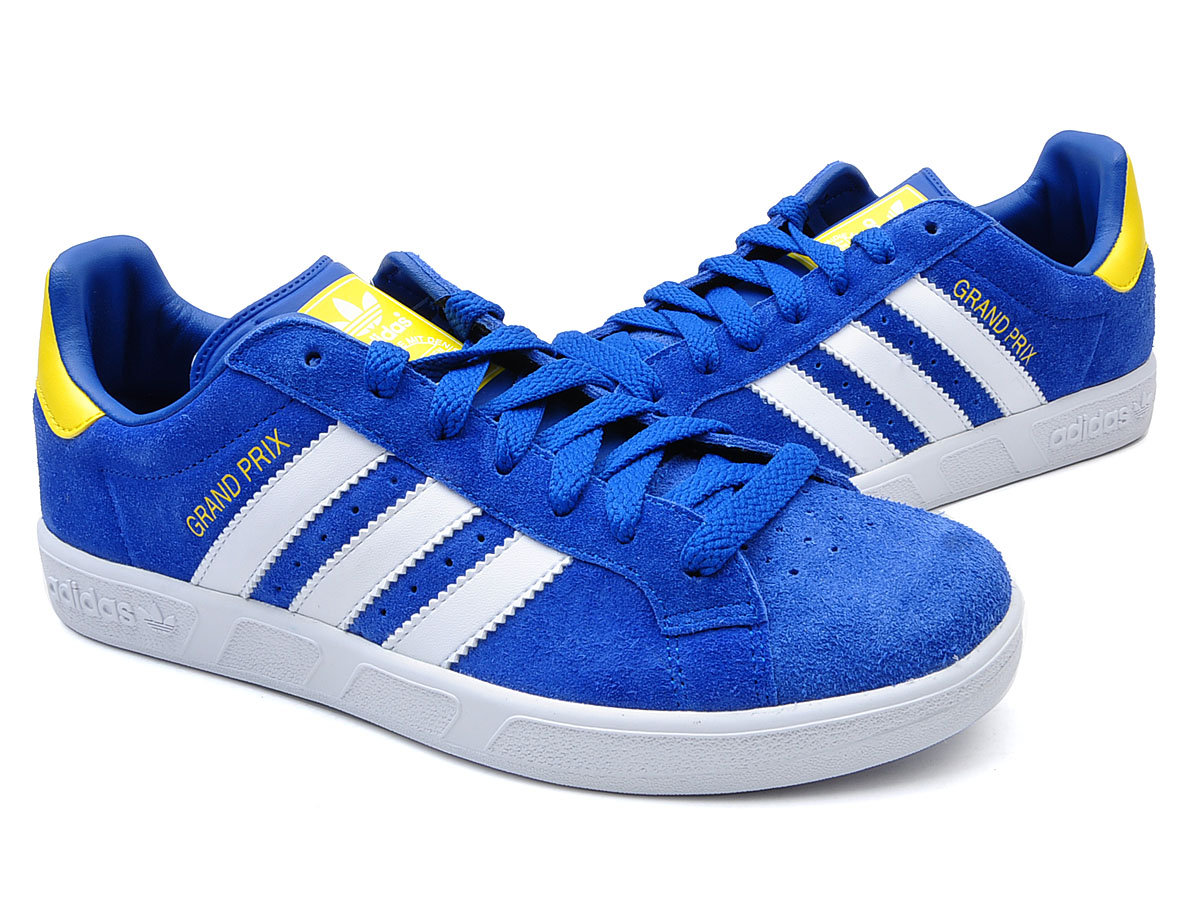 new mens adidas grand prix blue suede smart casual. Black Bedroom Furniture Sets. Home Design Ideas