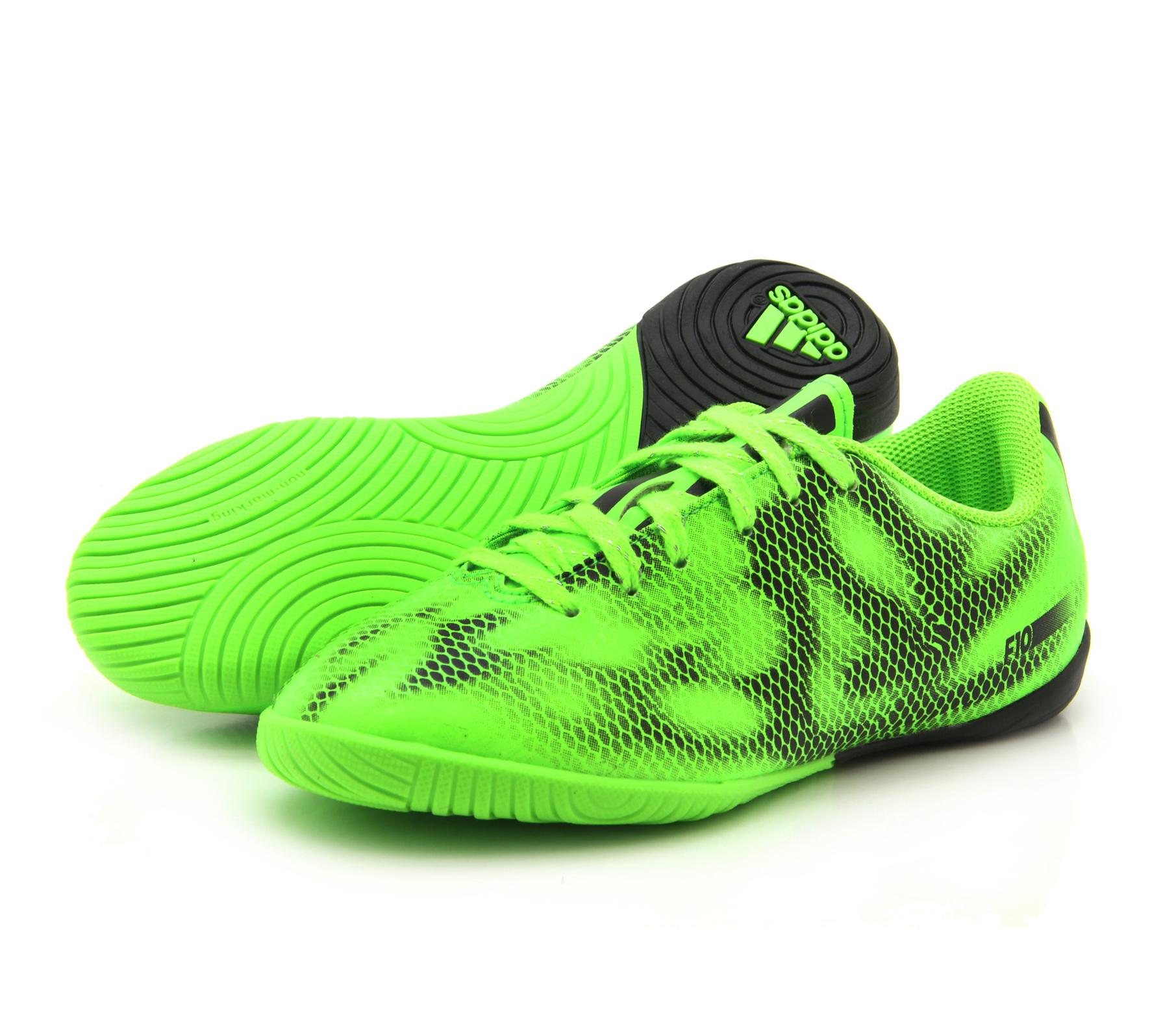 boys adidas f10 in indoor solar green football sports