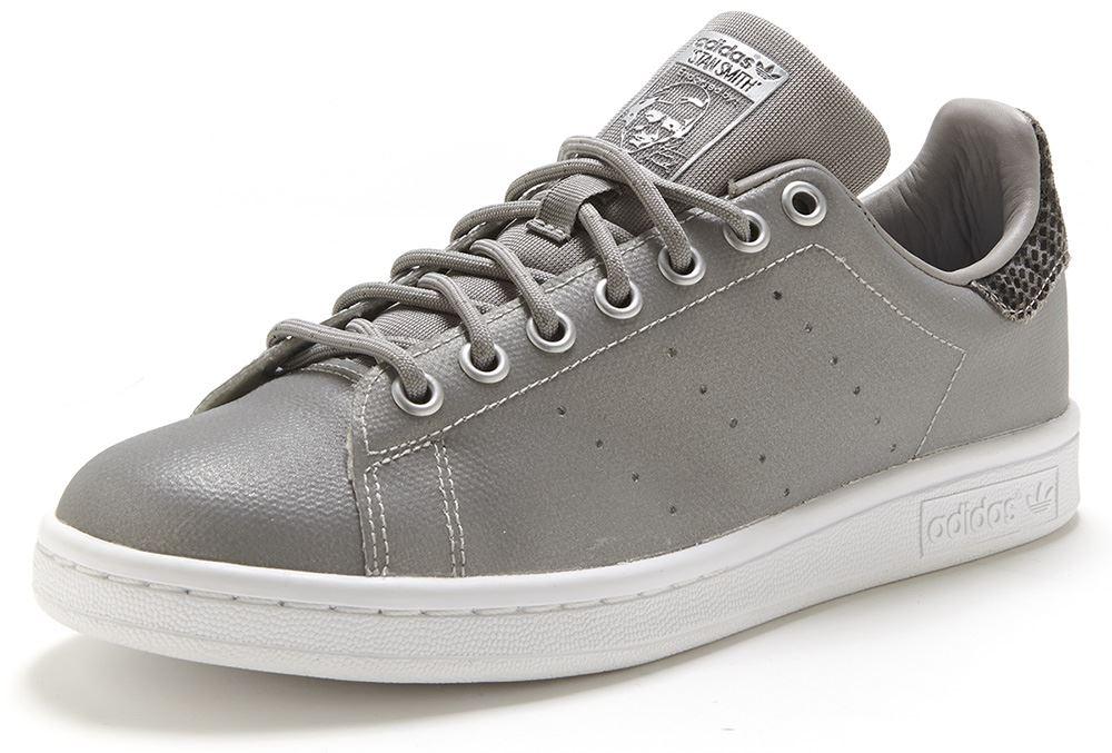 adidas stan smith silver snakeskin metallic mens originals trainers sneakers ebay. Black Bedroom Furniture Sets. Home Design Ideas