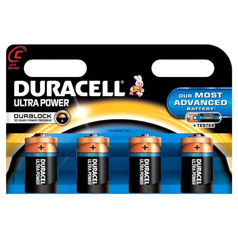 duracell ultra power c batteries 4 pack mx1400b4ultra new uk ebay. Black Bedroom Furniture Sets. Home Design Ideas