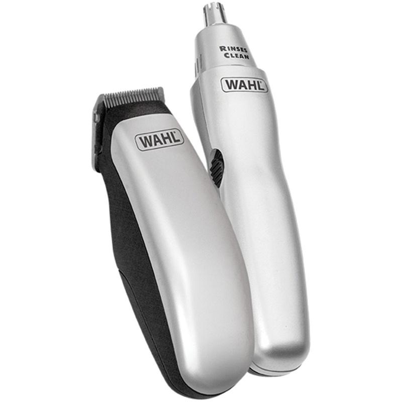 wahl wa 9962 1417 mens grooming travel pack hair ear and nasal trimmer set ebay. Black Bedroom Furniture Sets. Home Design Ideas