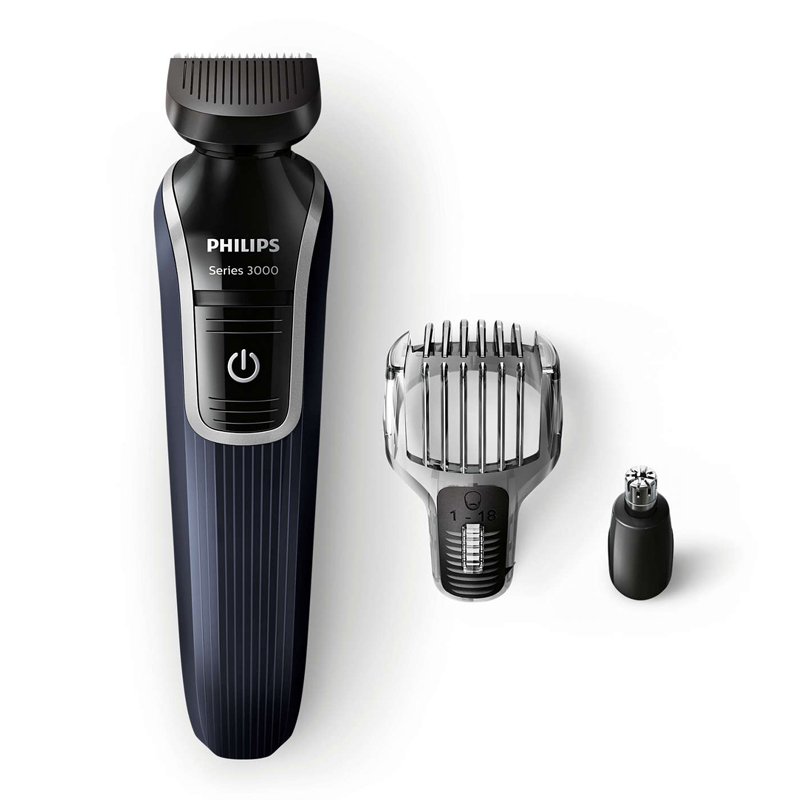 philips qg3322 13 multigroom series 3000 3 in 1 beard detail trimmer new uk ebay. Black Bedroom Furniture Sets. Home Design Ideas