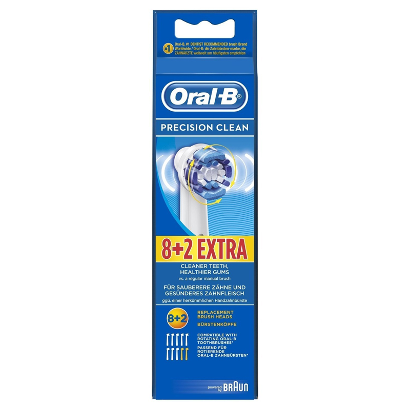 braun oral b precision clean replacement tooth brush heads. Black Bedroom Furniture Sets. Home Design Ideas