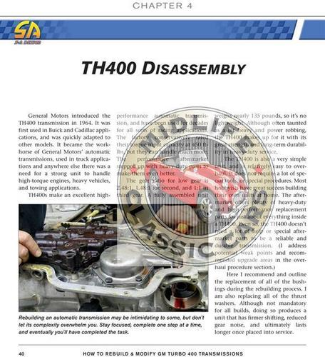 How To Rebuild Or Modify Chevy Turbo 400 Th400 Manual Guide