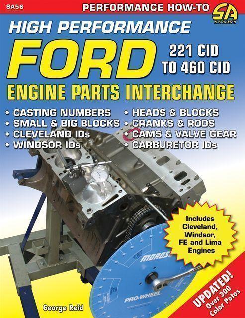 ford v8 parts interchange book 221 260 289 302 351 390 427. Black Bedroom Furniture Sets. Home Design Ideas