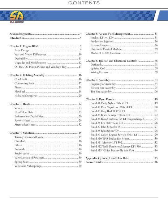 Chevy Lt1 Lt4 Engine Max Performance Book Camaro Z28 Ss