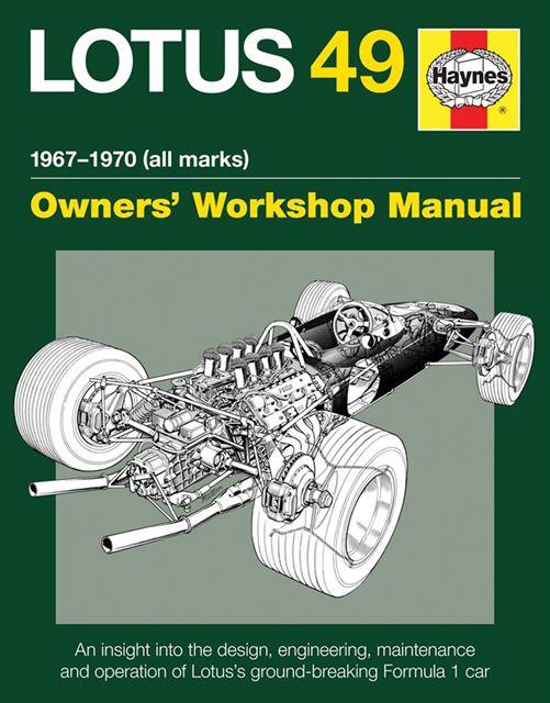 lotus 49 formula 1 race car workshop manual 1967 1970 cosworth dfv engine f1 ebay. Black Bedroom Furniture Sets. Home Design Ideas