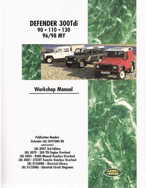land rover defender 300 tdi 90 110 130 1996 1998 workshop repair manual book new ebay land rover defender 90 repair manual land rover defender 90 user manual