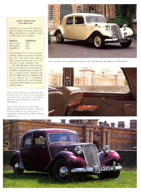 citroen traction avant history buying advice book ebay. Black Bedroom Furniture Sets. Home Design Ideas
