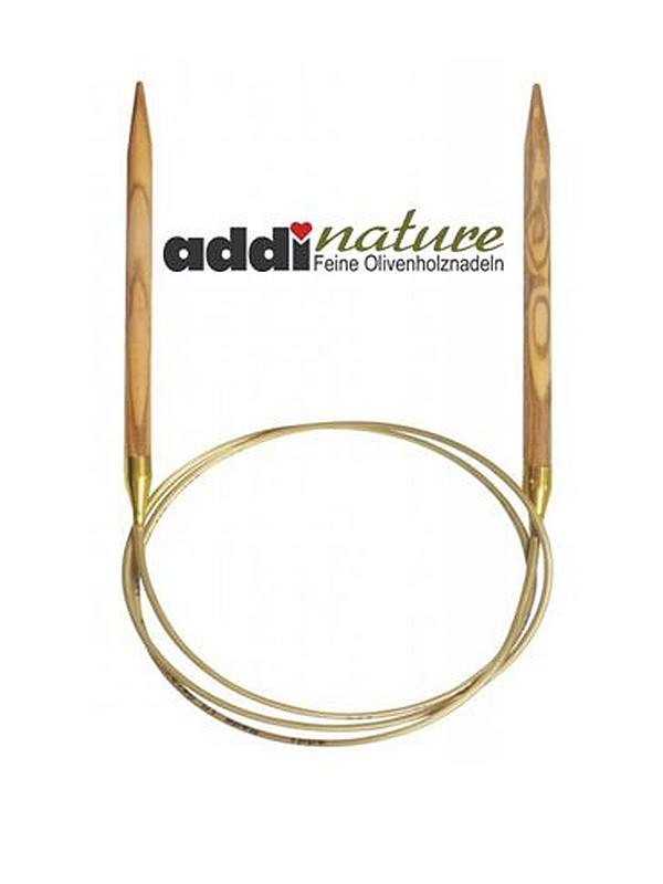 16in addi Olive Wood Fixed Circular Knitting Needles  40cm