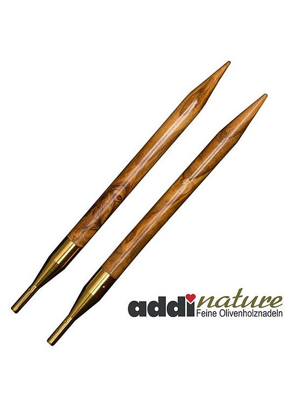Addi-Click Nature Olive Wood InterchangeableCircular Knitting Needle Tips